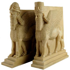 Lamassu Bookend Mixed Bull and Lion
