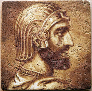 Cyrus, King of Persia Handcrafted Marble Coaster